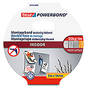 Tesa Powerbond Montageband Indoor (5 m x 19 mm)