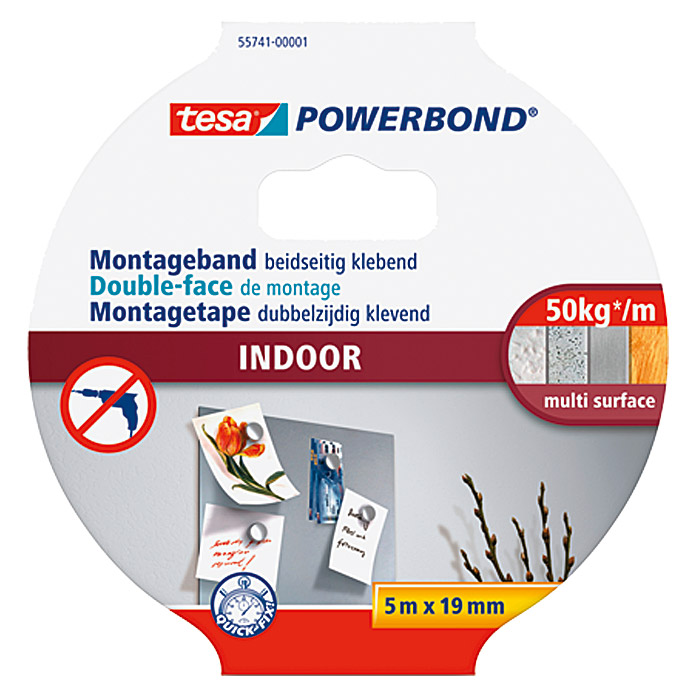POWERBOND INDOOR    MONTAGEB. 5 m:19 mm TESA