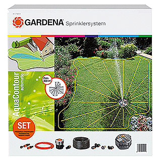 Gardena Set de aspersores retractiles AquaContour automatic (Superficie de rociador máx.: 350 m²)
