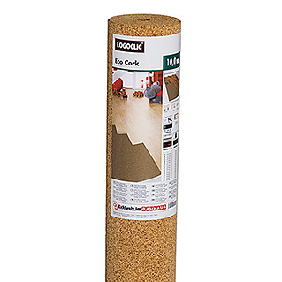 LOGOCLIC Rollo de corcho Eco Cork (10 m², Espesor: 2 mm)