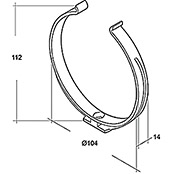 RUNDROHR-HALTER     NW100               AIR-CIRCLE