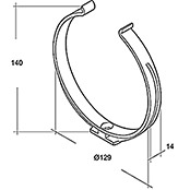 RUNDROHR-HALTER NW125                   AIR-CIRCLE