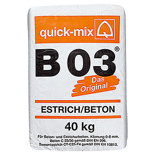 Quick-Mix Estrichbeton B 03 (40 kg, Chromatarm)