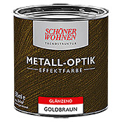 sch ner wohnen metall optik effektfarbe trendstruktur goldbraun 375 ml gl nzend bauhaus. Black Bedroom Furniture Sets. Home Design Ideas