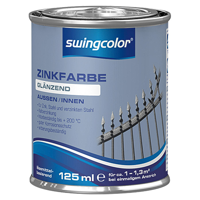 swingcolor Zinkfarbe  (Zink, 125 ml)