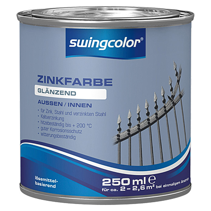 swingcolor Zinkfarbe  (Zink, 250 ml)