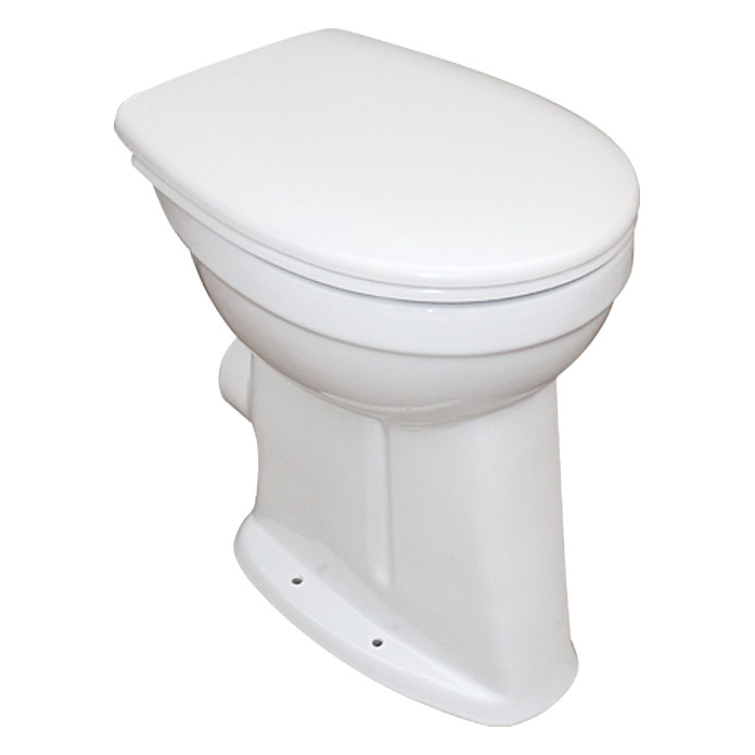 Camargue Pack de WC Plus 100 (Con borde de descarga, Salida WC: Horizontal, Blanco)