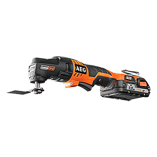 AEG Powertools Multitool OMNI 18 C2 (18 V, Li-ion, 2 Ah, 2 accu's)
