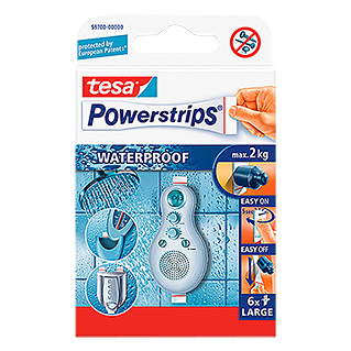 tesa Powerstrips Waterproof Zelfklevende strip (6 stk.)