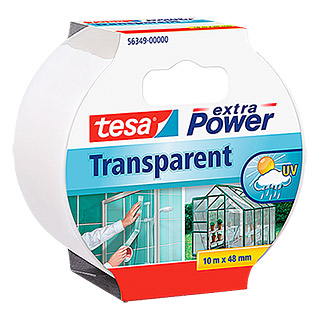 tesa Extra Power Reparatietape (Transparant, 10 m x 50 mm)