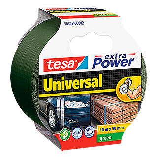 tesa Extra Power Folienband Universal (Grün, 10 m x 50 mm)