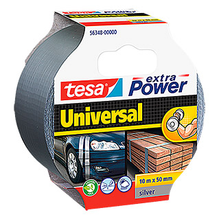 tesa Extra Power Folieband Universal (Grijs, 10 m x 50 mm)