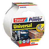 Tesa Extra Power Folienband Universal (Weiß, 10 m x 50 mm)