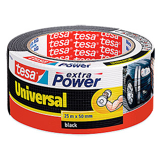 tesa Extra Power Folieband Universal (Zwart, 25 m x 50 mm)