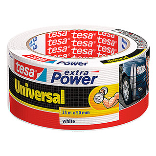 Tesa extra Power Folienband Universal (Weiß, 25 m x 50 mm)