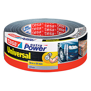 Tesa extra Power Folienband Universal (Silber, 50 m x 50 mm)