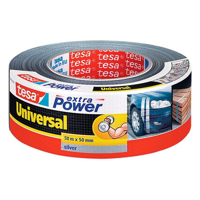 EXTRA POWER UNIVERS.50m:50mm SILBER     TESA