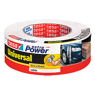 Tesa extra Power Folienband Universal (Weiß, 50 m x 50 mm)