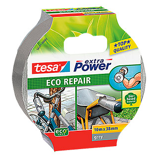 Tesa extra Power Reparaturklebeband ECO REPAIR (Grau, 10 m x 38 mm)