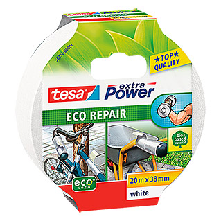 Tesa extra Power Reparaturklebeband ECO REPAIR (Weiß, 20 m x 38 mm)