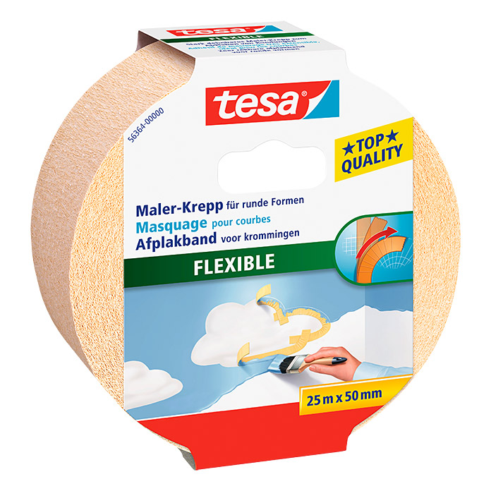 Tesa Maler-Krepp Flexible (25 m x 50 mm)