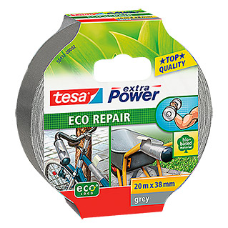 Tesa extra Power Reparaturklebeband ECO REPAIR (Grau, 20 m x 38 mm)
