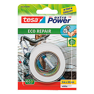 Tesa Extra Power Reparaturklebeband ECO REPAIR (5 m x 38 mm, Weiß)