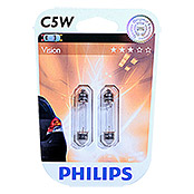 Philips Vision Soffittenlampe (C5W, 2 Stk.)