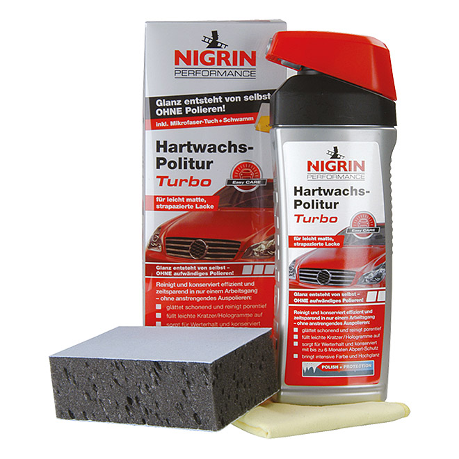 Nigrin Performance Hartwachs-Politur Turbo (500 ml)