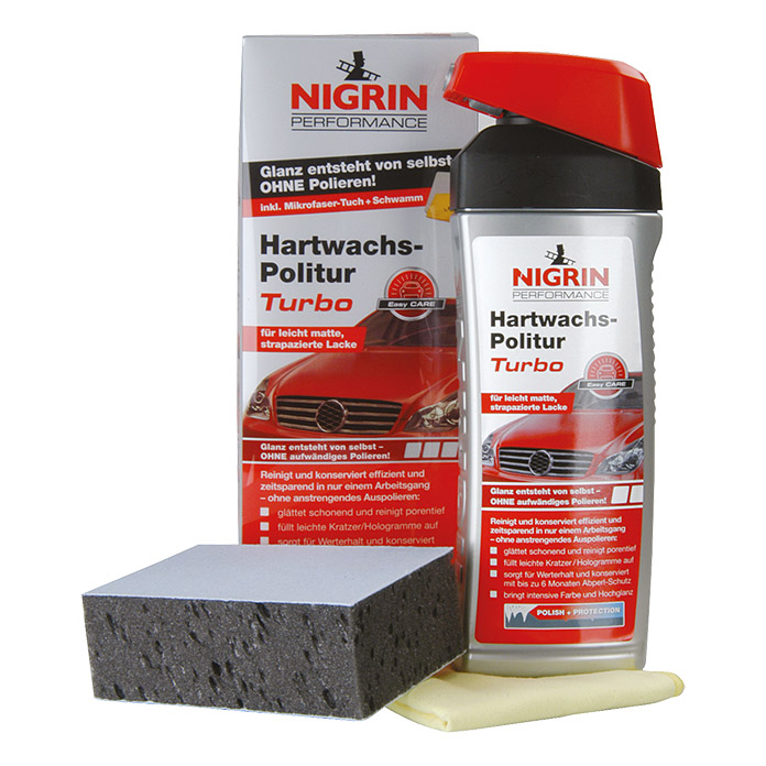 NIGRIN TURBO HART-  WACHS-POLITUR 500 ml