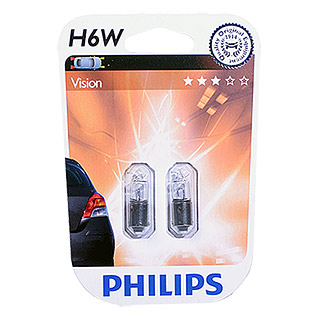 Philips Vision Signal- & Innenbeleuchtung (H6W, 2 Stk.)