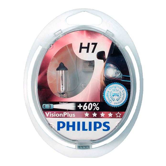 LAMPE     PHILIPS VISION PLUS H7 2ER KIT