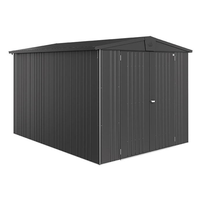 biohort ger tehaus europa dunkelgrau metallic 3 x 2 44 x 2 03 m stahlblech 7437. Black Bedroom Furniture Sets. Home Design Ideas