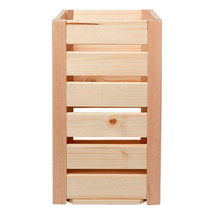 holzkiste a 1 8 32 x 17 5 x 18 cm gehobelt natur bauhaus. Black Bedroom Furniture Sets. Home Design Ideas