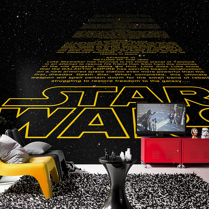 komar star wars fototapete intro 8 tlg 368 x 254 cm. Black Bedroom Furniture Sets. Home Design Ideas
