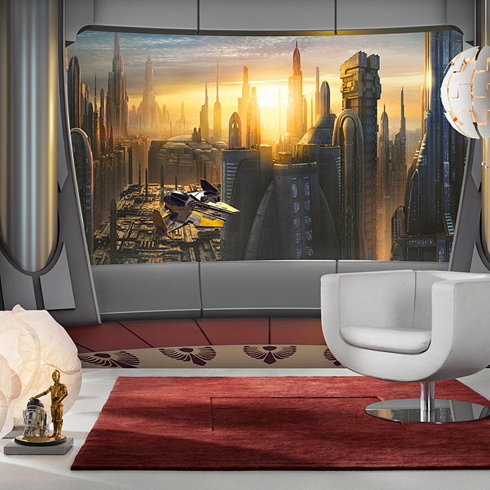 komar star wars fototapete coruscant view 8 tlg 368 x. Black Bedroom Furniture Sets. Home Design Ideas