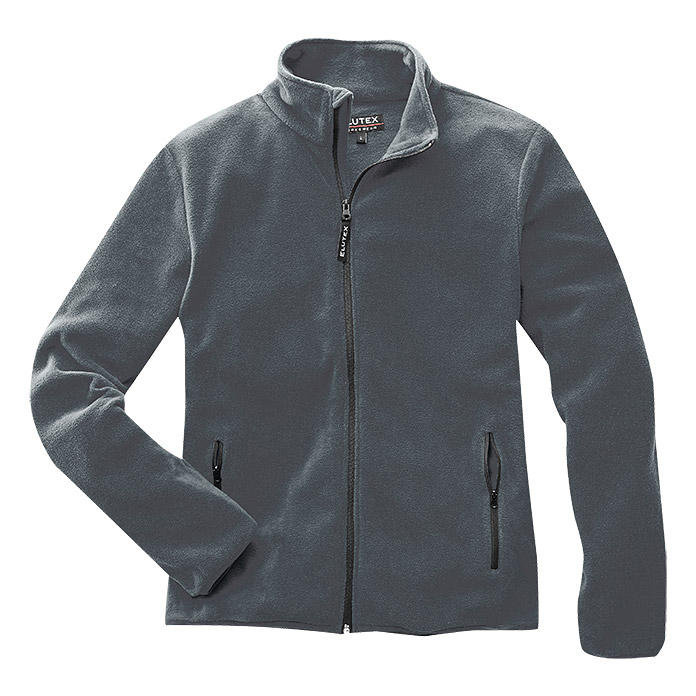 FLEECE-   JACKE     GRAU      GR. L     AKTION