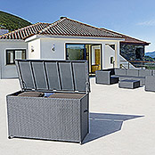 sunfun neila garten aufbewahrungsbox xxl silbergrau 160 x 75 x 95 cm polyrattan bauhaus. Black Bedroom Furniture Sets. Home Design Ideas