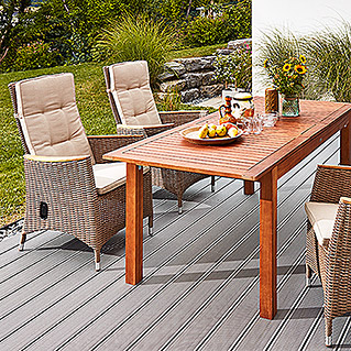 Sunfun Elements Diana Dining-Set  (Ausziehtisch Diana, Positionssessel Janina)