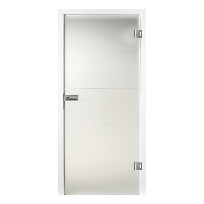 Diamond Doors Glasdrehtür Lines Positiv (834 x 1.972 mm, DIN Links, Einscheibensicherheitsglas (ESG))
