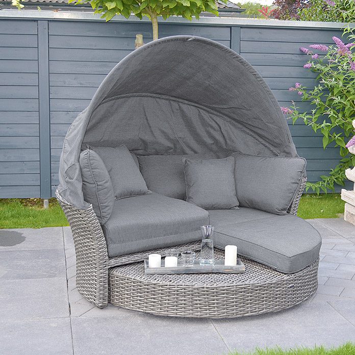 sunfun lounge insel paula 193 x 175 x 166 cm polyrattan. Black Bedroom Furniture Sets. Home Design Ideas