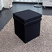 Multifunktionsbox (37,5 x 37,5 x 73 cm, Schwarz)