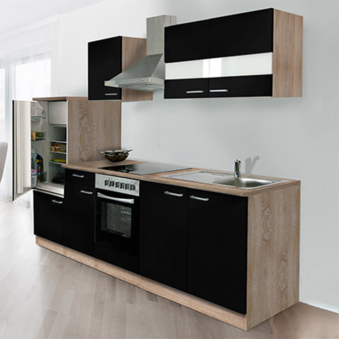 respekta k chenzeile kb270essc breite 270 cm schwarz. Black Bedroom Furniture Sets. Home Design Ideas
