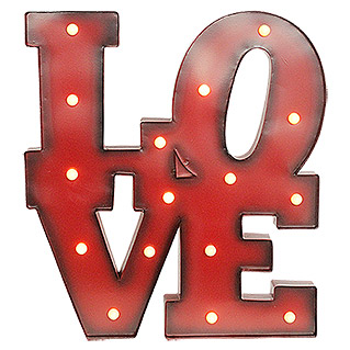 Tween Light LED Schild (LOVE, Rot, 1,6 W, Warmweiß)