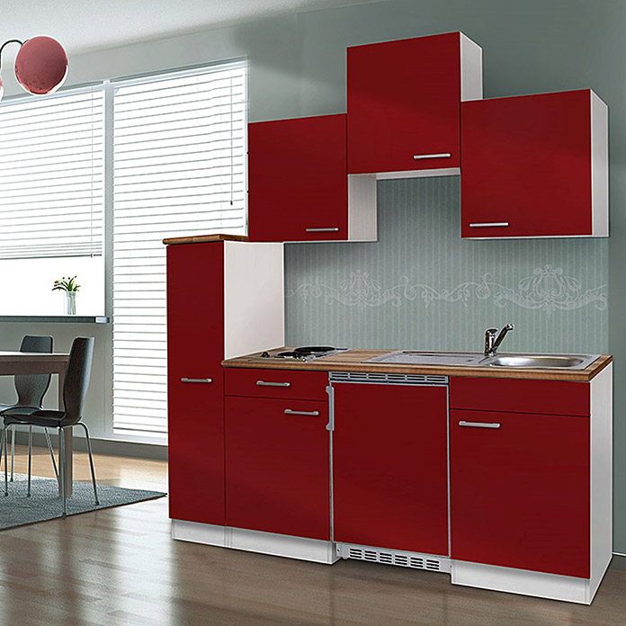 respekta singlek che kb180wrc breite 180 cm rot mit glaskeramikkochfeld bauhaus. Black Bedroom Furniture Sets. Home Design Ideas