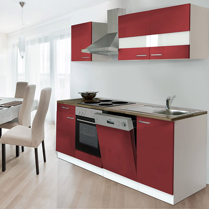 respekta k chenzeile kb220wr breite 220 cm rot bauhaus. Black Bedroom Furniture Sets. Home Design Ideas