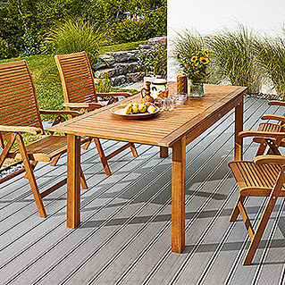 Sunfun Elements Diana Dining-Set  (5-tlg., Ausziehtisch Diana, Positionssessel Diana)