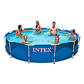 METALL-FRAME POOL-SET 366X76cm MIT PUMPEINTEX