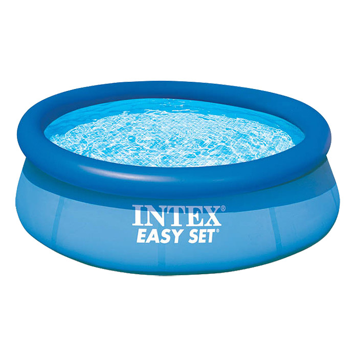 Intex easy pool set durchmesser 244 cm h he 76 cm for Gartenpool rund aufblasbar