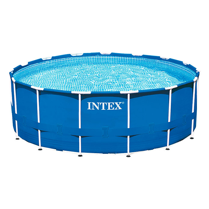 Intex frame pool set rondo durchmesser 366 cm h he 76 for Leclerc piscine intex